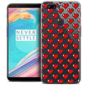 CaseInk Coque OnePlus 5T (6 ) Extra Fine Love Pixel Art