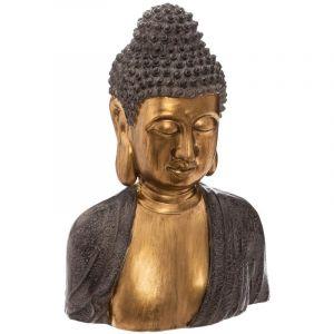 "Atmosphera Statue en Magnésie ""Buste Bouddha"" 41 cm Or"