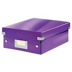 Leitz 6057-00-62 - Boîte de rangement Click & Store, petit format avec compartiments, en PP, coloris violet