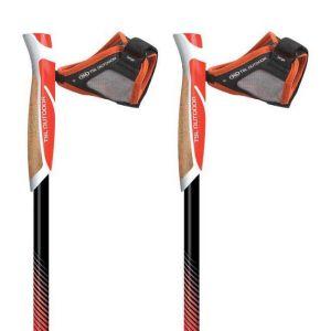 TSL Outdoor Bâtons de randonnée Trail Carbon Cork Spike 2 Units - Black / Red / Yellow - Taille 130 cm / L