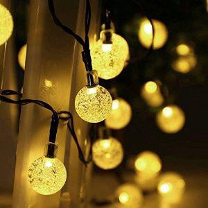 Salcar Guirlande solaire 5 mètres LED 20 boules