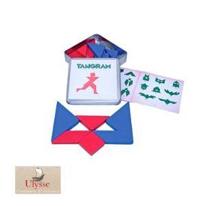 Tangram bi-color 14 pièces en bois