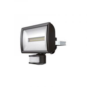 Theben Projecteur à LED theLeda EC20 BK - 20W - 4000K - Noir - Non dimmable - avec détecteur de mouvement