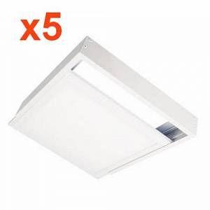 Silamp Kit en Saillie BLANC pour Dalle LED 60x60 Slim (Pack de 5)