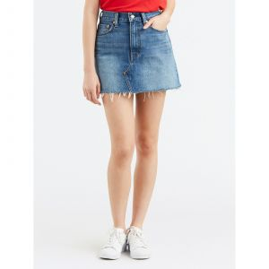 Levi's Deconstructed Skirt, Jupe Femme, Bleu (Middle Man 0023), Taille Unique (Taille Fabricant: 25)