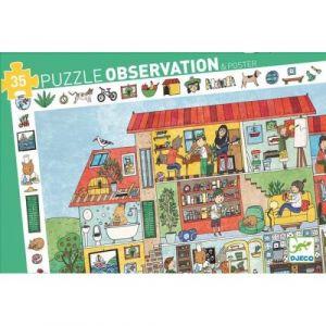 Djeco Puzzle 35 pièces Observation La Maison