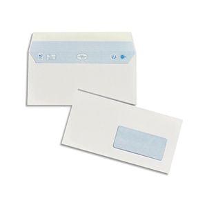 La couronne Enveloppe 110 x 220 mm 90 g avec fenêtre 45 x 100 mm blanche - Boîte de 200