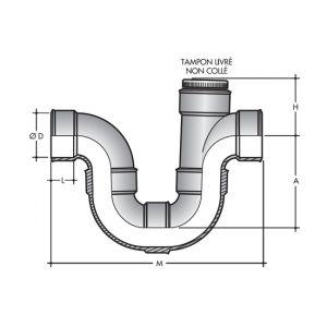 Nicoll Siphon assainissement O125 1 tampon de visite ff a coller
