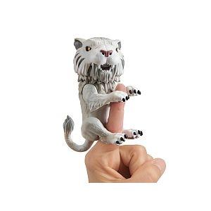 Wow wee Bébé Tigre à dent de sabre Fingerlings Blanc / Silvertooth