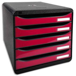Exacompta 3097284D - BIG-BOX PLUS, coloris noir/framboise brillant