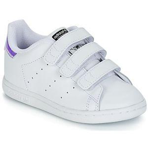 Adidas Stan Smith CF, Chaussures Marche Mixte Bébé, Argent (Metallic Silver/SLD/Metallic Silver/SLD/FTWR White), 27 EU