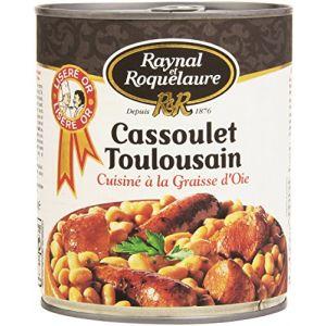 Raynal et Roquelaure Cassoulet Toulousain Cuisiné à la Graisse d'Oie - Lot de 4