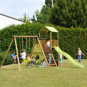 Soulet Lombarde - Aire de jeux 5 agrès en bois 2,35 m