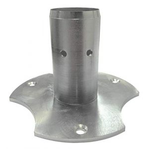 M&m's S&M 135 AQUAPOINT Base galvanisée pour Colonne d'eau Ovale ou Ronde Argenté