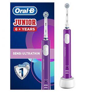 Oral-B Junior Brosse à Dents Électrique Rechargeable pour Enfants de 6Ans/Plus Violet