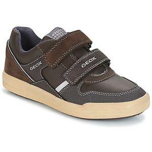 Geox J Arzach C, Sneakers Basses Garçon, Marron (Brown/DK Grey C0945), 35 EU