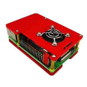 Boitier pour Raspberry Pi 4 (Rouge)