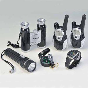 WDK Partner A0905544 - Coffret d'espionnage talkie walkie, montre, jumelle