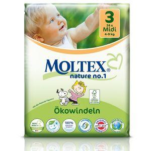 Moltex Couches taille 3 Eco-Midi (4-9 kg) - paquet de 34