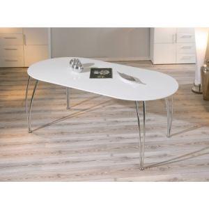 Salle a manger table ovale comparer 128 offres for Table ovale contemporaine avec rallonge