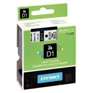 Dymo S0720930 - Ruban D1 24mmx7m noir / blanc