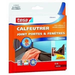 Tesa Bourrelet caoutchouc profil P 9 mm x 6 m brun Joint, Bourrelet, Toile de verre