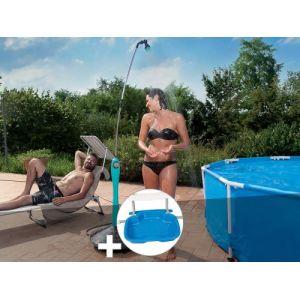 G.F. Douche solaire Sunny Style Bleue + Pédiluve