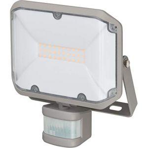 Brennenstuhl Projecteur ALCINDA LED 20W Avec Detecteur de Mouvement Infrarouge (2080 lm, pour montage mural, lampe LED SMD OSRAM très claire, Utilisation en intérieur et en extérieur IP44), Gris