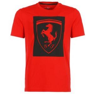 Puma T-shirt FERRARI BIG SHIELD rouge - Taille L,M