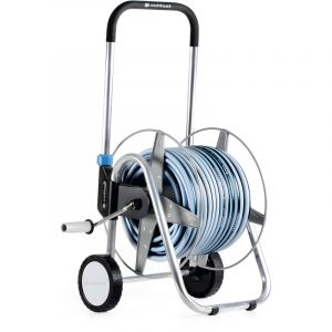 Cellfast Chariot de jardin bobine arrosage panier + 50m tuyau