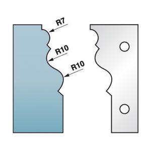 Diamwood Platinum Jeu de 2 fers profilés Ht. 90 x 5,5 mm corniche N°2 M590.302 pour porte-outils de toupie