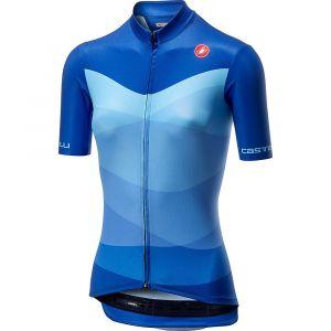 Castelli Tabularasa Maillot de cyclisme Femme, onda blue XL Maillots route