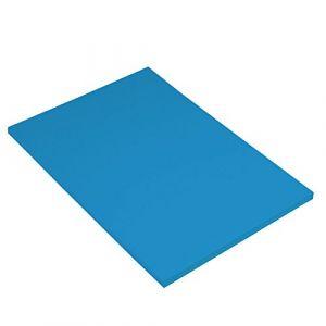 Canson Iris Vivaldi Papier couleur A4 Lisse 185g/m² 21 x 29,7 cm Bleu Azur Lot de 50