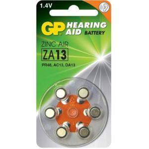 GP ZA13 - Blister de 6 piles bouton zinc air compatible PR48/DA13X/AC13E