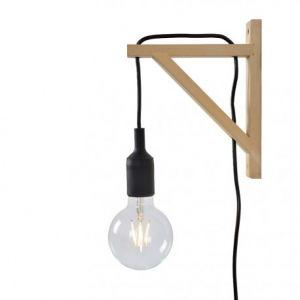 Lucide Applique - Potence en bois Fix Wall H22 cm - Noir