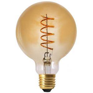 Declikdeco Ampoule Ambrée Boule RAMA Filament Spirale LED E27 2W