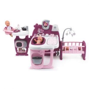 Smoby Centre d'activités pour poupée Baby Nurse rose, sons rose/rose vif