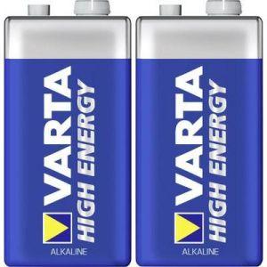Varta High Energy 2 piles 9V (6LR61) alcalines
