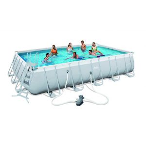 Bestway Kit Piscine Rectangulaire Steel Pro Frame Pools L 671cm l 366cm
