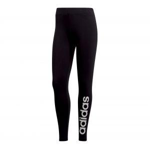 Adidas W E Lin Tight Pantalons de Compression Femme, Noir/Blanc, FR : M