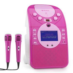 Auna ScreenStar Chaîne karaoké caméra CD USB MP3 + 2 microphones