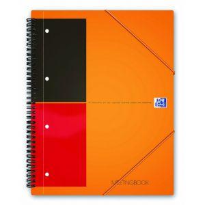 Oxford 100103453 - Cahier Meetingbook rel. intégrale A5+ 160 pages 80g/m², ligné 6mm, avec chem. intégrée