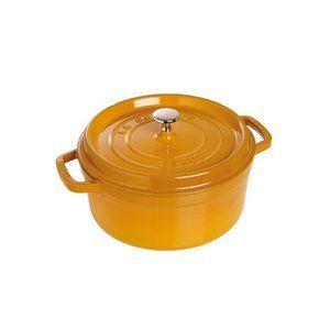 Staub Cocotte ronde 26,0 cm, 5,0 l, moutarde, adaptée à l'induction
