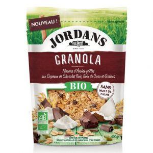 Jordans Granola bio chocolat noir, noix de coco et graines de courge 400g