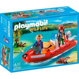 Playmobil 5559 Wild Life - Braconniers avec bateau