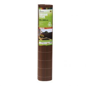 Gardenova Brise-vue Rugen en PVC noyer 90 x 300 cm
