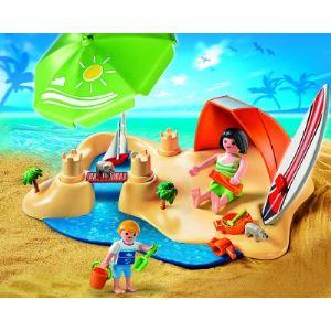 Playmobil 4149 - Compact set : vacanciers à la plage