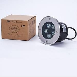 Silamp Spot Extérieur Encastrable Sol LED 5W IP65 80 Ø130 - couleur eclairage : Blanc Froid 6000K - 8000K