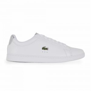Lacoste Carnaby Evo Femme Blanche Et Argent 39 Tennis