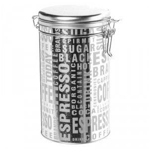 Boîte à café Silver Words